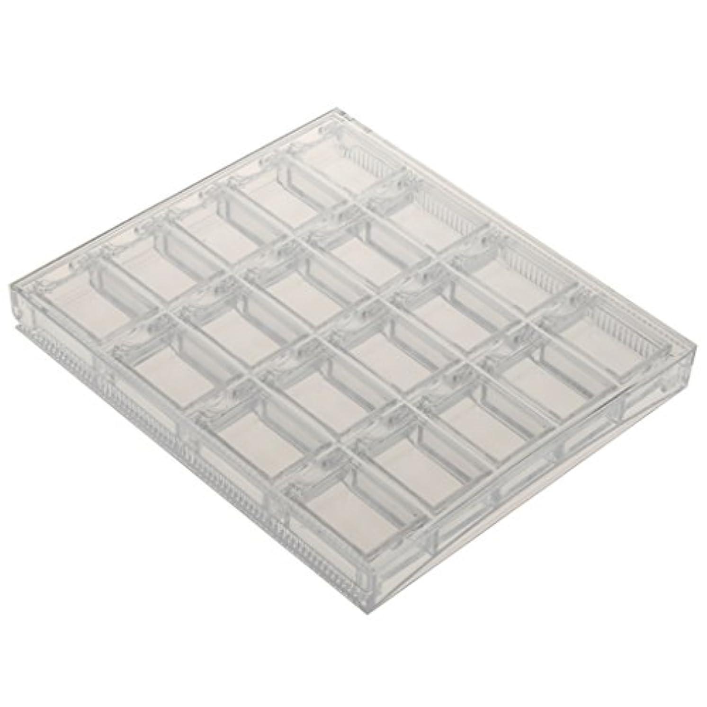 カウンターパート着替える豊かにするgazechimp ネイルアート 収納ケース グリッター パウダー ボックス プラスチック容器 ネイルサロン