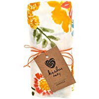 kishu baby Orange Blossom Muslin Swaddle Blanket, Multicolor, One Size by Kishu Baby
