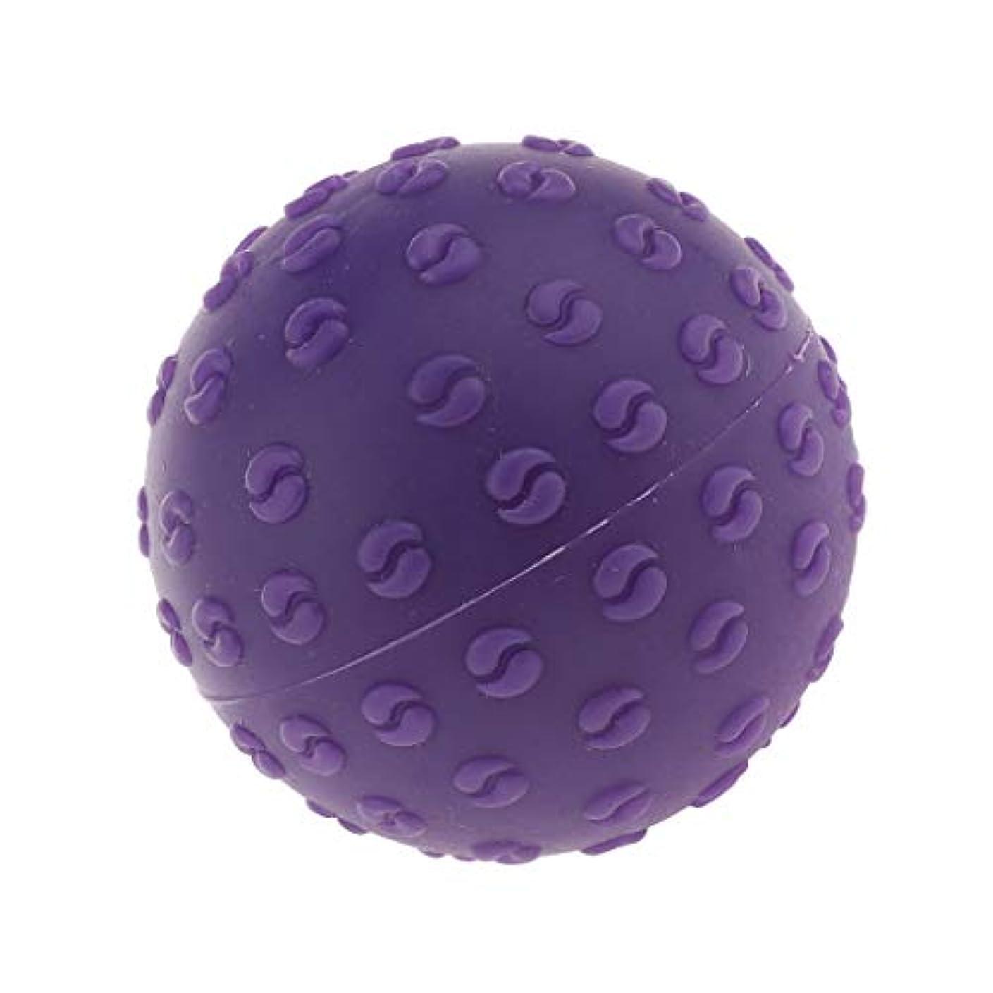 付属品誠意一晩CUTICATE マッサージボール 指圧ボール シリコーン トリガーポイント 足底筋膜炎 ヨガ マッサージ器 全6色 - 紫, 説明のとおり