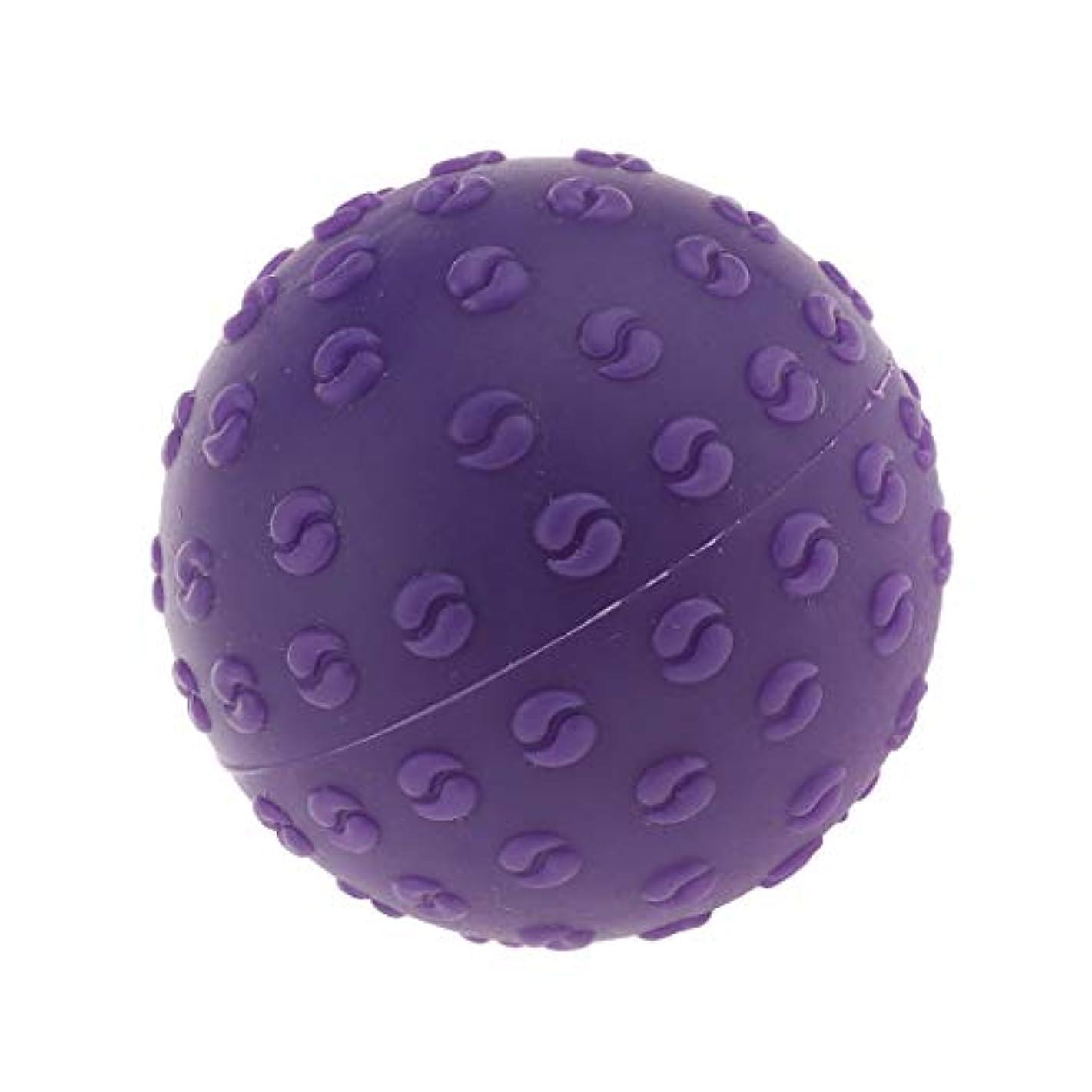 勝つ内陸修道院CUTICATE マッサージボール 指圧ボール シリコーン トリガーポイント 足底筋膜炎 ヨガ マッサージ器 全6色 - 紫, 説明のとおり