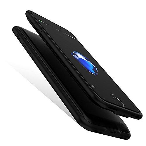 バッテリー内蔵ケース 軽量 超薄 大容量 iphone6s/iphone7/iphone8 専用 充電器 バッテリーケース 4000mA 急速充電 全面保護ケース 超便利 ケース型バッテリー 車載ホルダー対応 (iphone6s/iphone7/iphone8, ブラック)