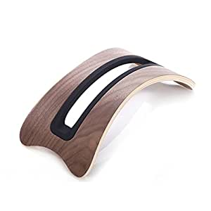 MacBook Air / Pro 専用 天然木 スタンド ウッド(ブラック)