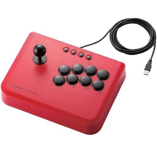ELECOM PS3 USBアーケードスティック 10ボタン 連射機能搭載 レッド JC-GMAS01RD
