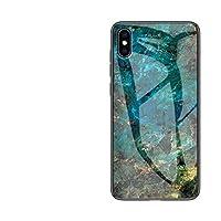 AL ケース マーブル柄 ハード 強化 ガラス 保護 背面 カバー Apple style 03 For iphone XS AL-AA-9083-T003-TB