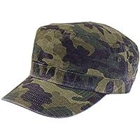 (ラグタイム セレクト) Ragtime Select 大きいサイズ 帽子 ドゴールキャップ 迷彩柄 カモフラ リップストップ ゴムシャーリング C300119-04