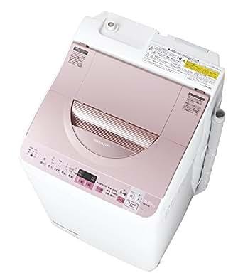 シャープ タテ型洗濯乾燥機 穴なし槽 5.5kg ピンク ES-TX5A-P