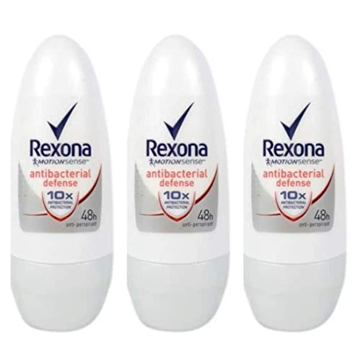 威する別の健康Rexona レクソナ 制汗 デオドラント ロールオン antibacterial defense アンチバクテリアル ディフェンス50ml 3個 [並行輸入品]