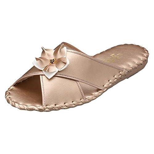 (パンジー)Pansyスリッパルームパンジー 室内履き9500 (L: (24.0~24.5cm), ゴールド)