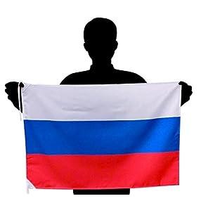 ロシア国旗(L) 応援サイズ:50×75cm 高級テトロン製 日本製