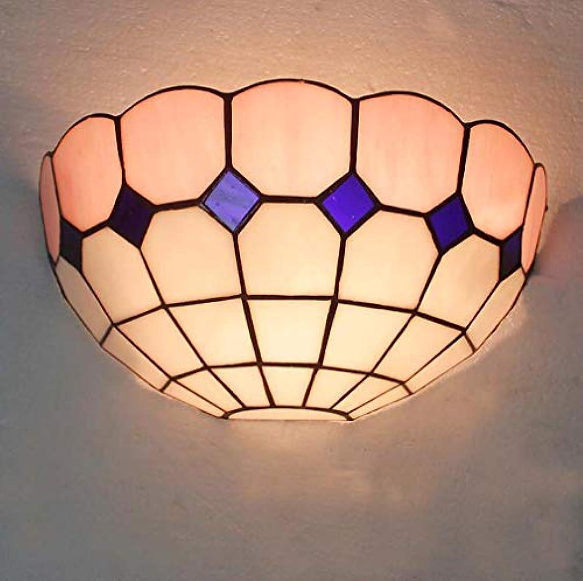いま謎めいた野ウサギティファニースタイルウォールランプステンドグラス12.5インチシェード、アンティークの壁取り付け用燭台照明の寝室リビングルーム,D