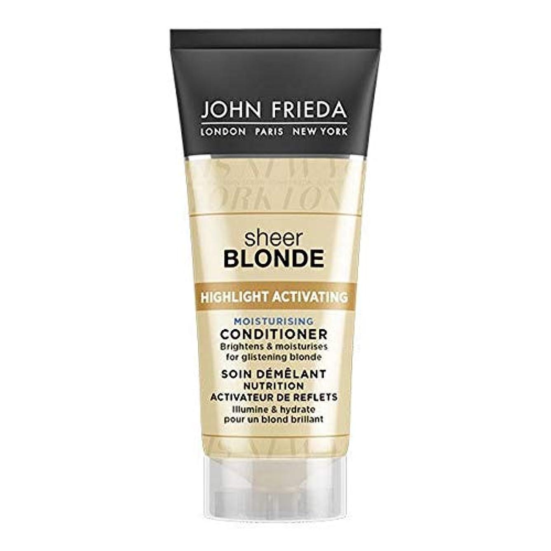 忌まわしいエンドウ磁石[John Frieda ] ジョン?フリーダ膨大なブロンド保湿コンディショナー50ミリリットル - John Frieda Sheer Blonde Moisturising Conditioner 50ml [並行輸入品]