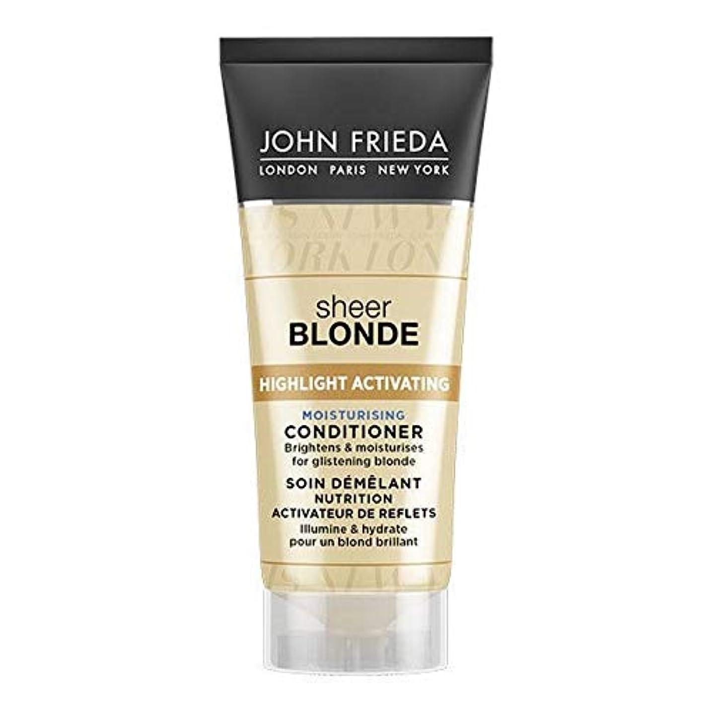 オーケストラ地下鉄留まる[John Frieda ] ジョン?フリーダ膨大なブロンド保湿コンディショナー50ミリリットル - John Frieda Sheer Blonde Moisturising Conditioner 50ml [並行輸入品]