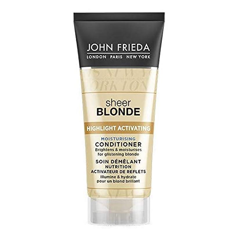 憂慮すべき貧困ホステス[John Frieda ] ジョン?フリーダ膨大なブロンド保湿コンディショナー50ミリリットル - John Frieda Sheer Blonde Moisturising Conditioner 50ml [並行輸入品]