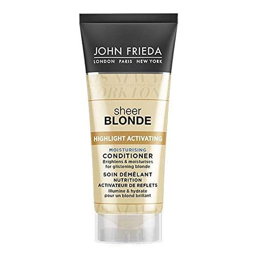 スタンド個人的に襲撃[John Frieda ] ジョン?フリーダ膨大なブロンド保湿コンディショナー50ミリリットル - John Frieda Sheer Blonde Moisturising Conditioner 50ml [並行輸入品]