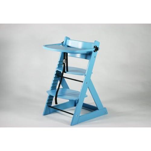 ベビーチェア キッズチェア テーブル付き トレイ付き 木製 子供用椅子 ブルー