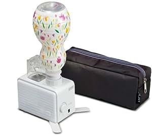 CCP 【旅行にも便利な専用ポーチ付き限定モデル】超音波式ペットボトル加湿器 (ひょうたんボトル+殺菌カートリッジ付き) ホワイト KX-80UP-AWH
