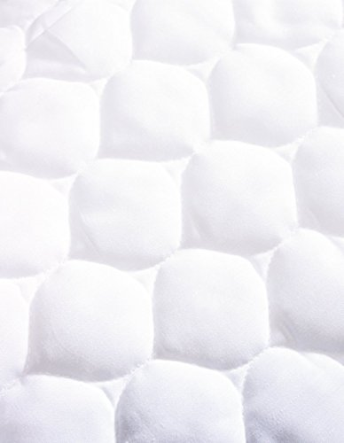 American Baby Company Waterproof Fitted Quilted Portable Mini Crib Mattress Pad Cover 2 Count, White