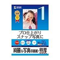 サンワサプライ インクジェット写真印画紙・特厚 JP-EP2NB5×3セット