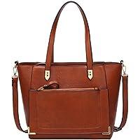 Women's Vintage Fine Fibre Genuine Leather Bag Tote Shoulder Bag Handbag Model Cronos