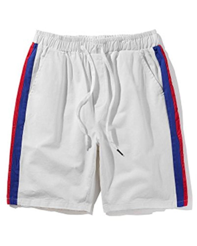 [サ二ー] 短パンツ トレーニング メンズ ゴム レディース 大きいサイズ スポーツ ストライプ 夏 ストレッチ