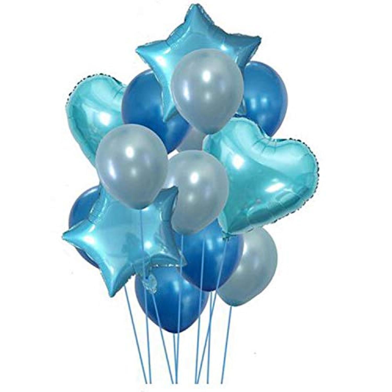 Cikuso 14個 12インチ 18インチ マルチエアバルーン お誕生日おめでとう? ハッピー?バースデー?パーティー ヘリウム?バルーンのデコレーション ウェディング/フェスティバル/パーティー用品(ブルー)