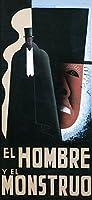 Theatre Ad Hombre Monstruo JekyllハイドスペインXXLポスター壁アート印刷llf0497