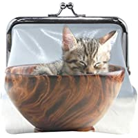 がま口 財布 口金 小銭入れ ポーチ ねこ 茶碗 小さい Jiemeil バッグ かわいい 高級レザー レディース プレゼント ほど良いサイズ