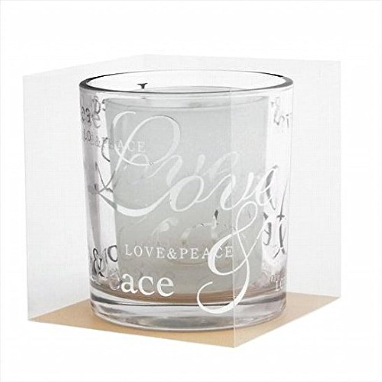 十代の若者たち適応的ブルーベルkameyama candle(カメヤマキャンドル) ラブ&ピースデュエットグラス 「 シルバー 」(J5400000SI)