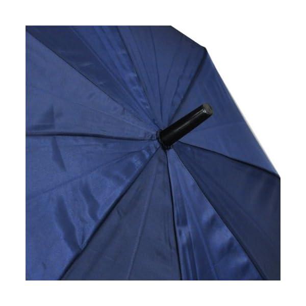 紳士傘 グラスファイバー 長傘 紺 65cmの紹介画像4
