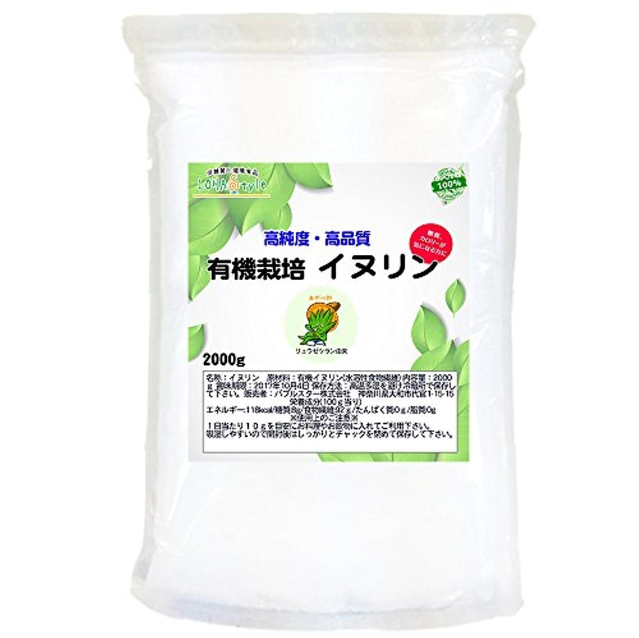 規範球状ポケットLOHAStyle 有機栽培 イヌリン(水溶性食物繊維) 2kg【200日分】