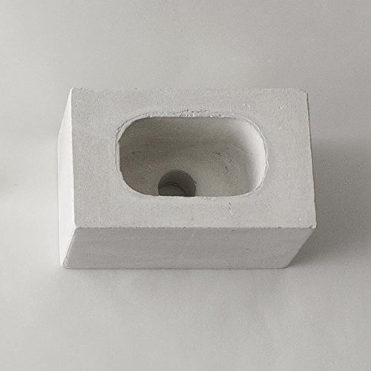 お願いします曇った有利ar003wh/パーツ販売?b2c ブリック用 コンクリートパーツ(スクエア)《ホワイト》| 芳香剤 ルームフレグランス リードディフューザー アロマ ディフューザー