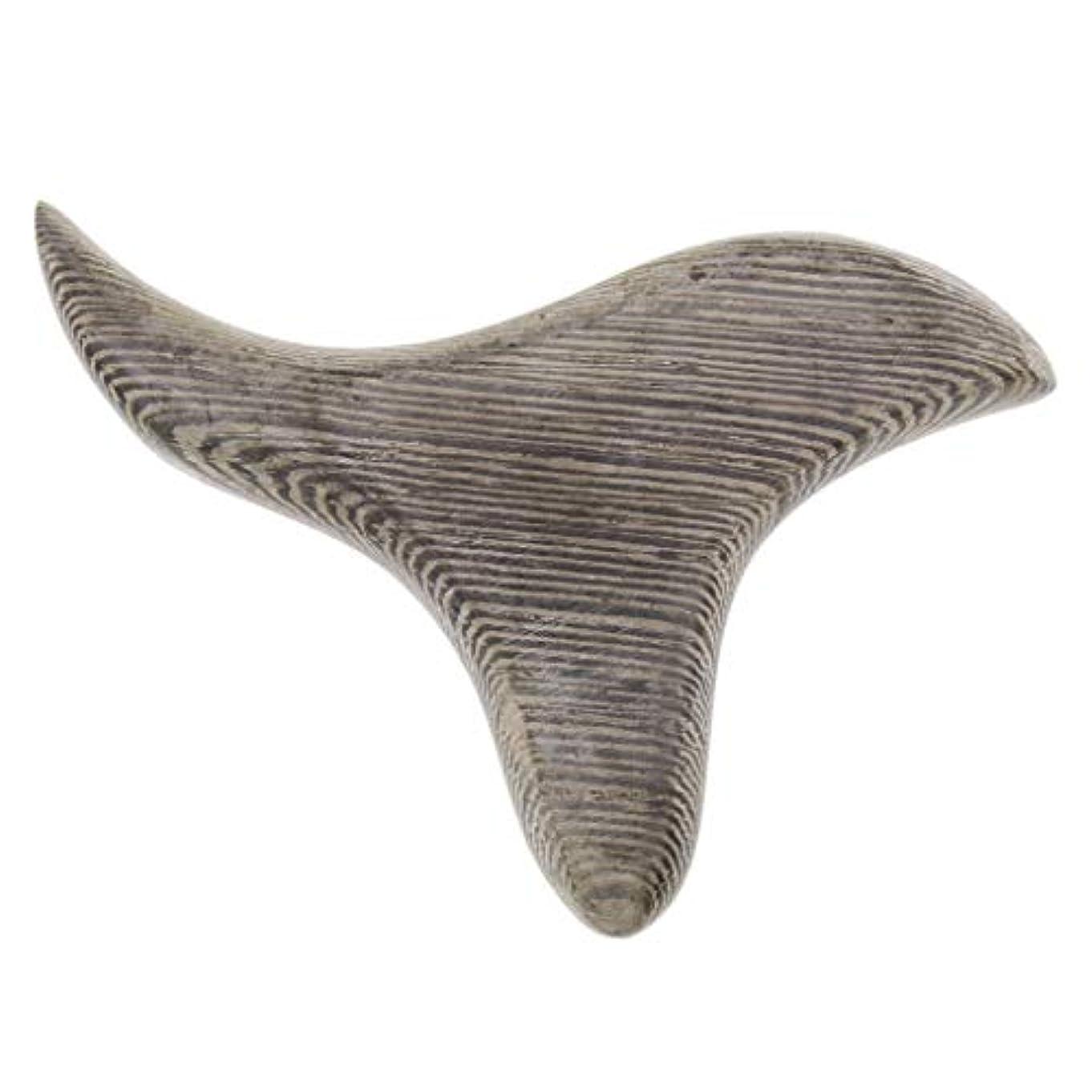 ブロンズコレクション委任FLAMEER 三角形 マッサージボード 掻き板 木製