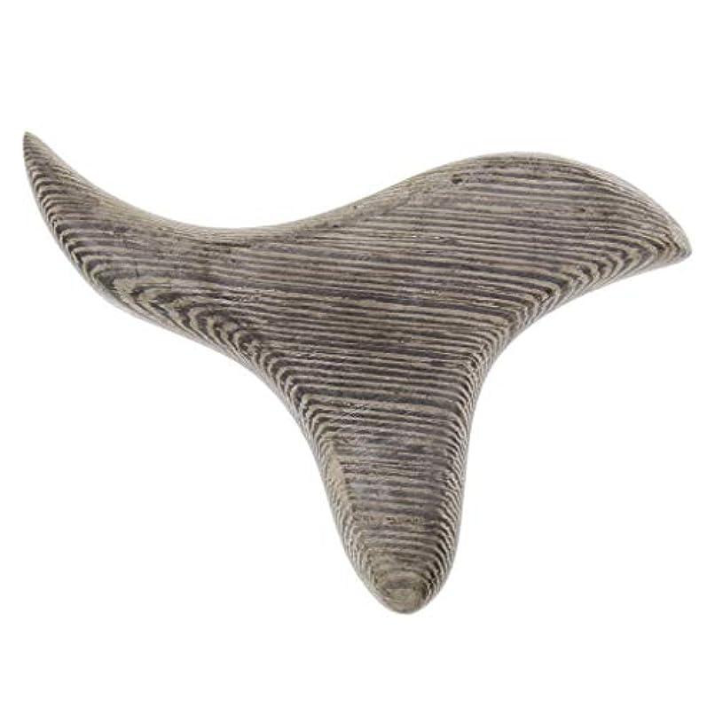 時代硬化するちなみに三角形 マッサージボード 掻き板 木製