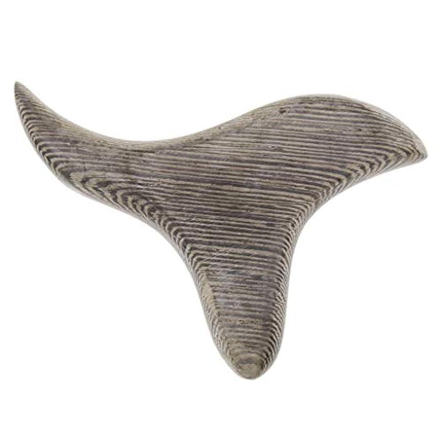 トチの実の木組み合わせ書く三角形 マッサージボード 掻き板 木製