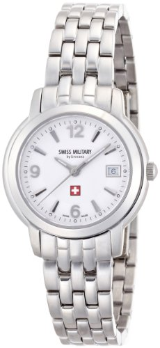腕時計 ホワイト 5581.1232 レディース スイスミリタリー バイ グロバナ