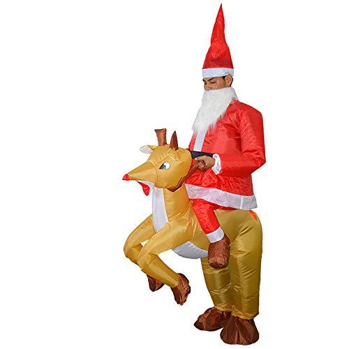着ぐるみ クリスマストナカイ 膨張可能 おもしろ インフレー...