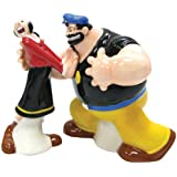 """Westland Giftware Popeye Magnetic Olive Oyl and Brutus Salt and Pepper Shaker Set, multi-colored, 8"""" (SS-WL-15129)"""