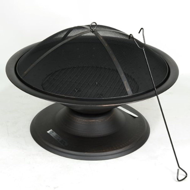 ベテランテメリティ消すファイヤーピット(焚き火台) 直径約75cm カバー付き