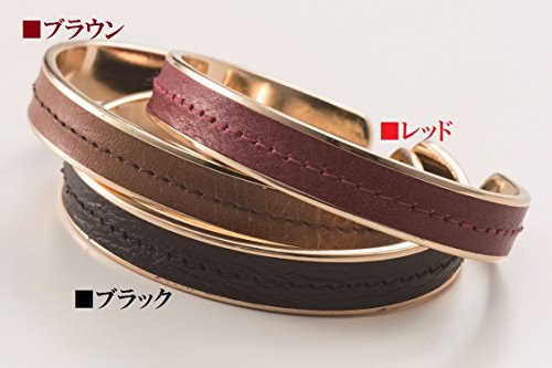 [해외]정전기 가죽 패션 팔찌/Static electricity removal genuine leather fashionable bangle