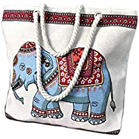 Women's Canvas Shoulder Hand Bag Tote Bag Beach bag Portable Handbag