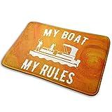 My Boat My Rules カーペット 可愛い 浴室 玄関マット 40 X 60cm