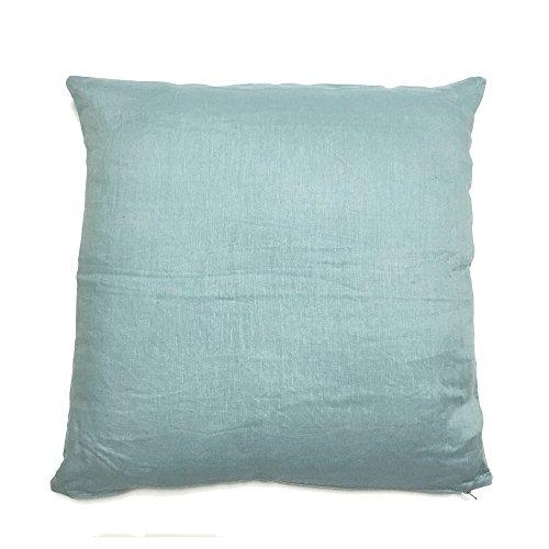 志成販売 クッション ライトネス リネン 麻 100% ブルー 正方形 60×60cm