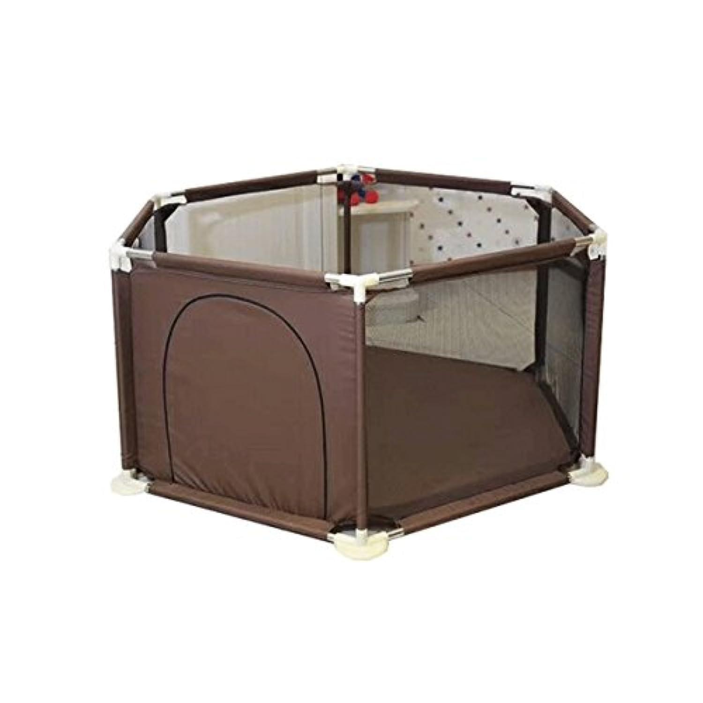 KUKUYA(ククヤ) ベビーサークル メッシュ 六角形 オックスフォード生地 赤ちゃん 安全 柵 セーフティーグッズ 組み立て 洗える バスケットゴール 6ヶ月~5歳