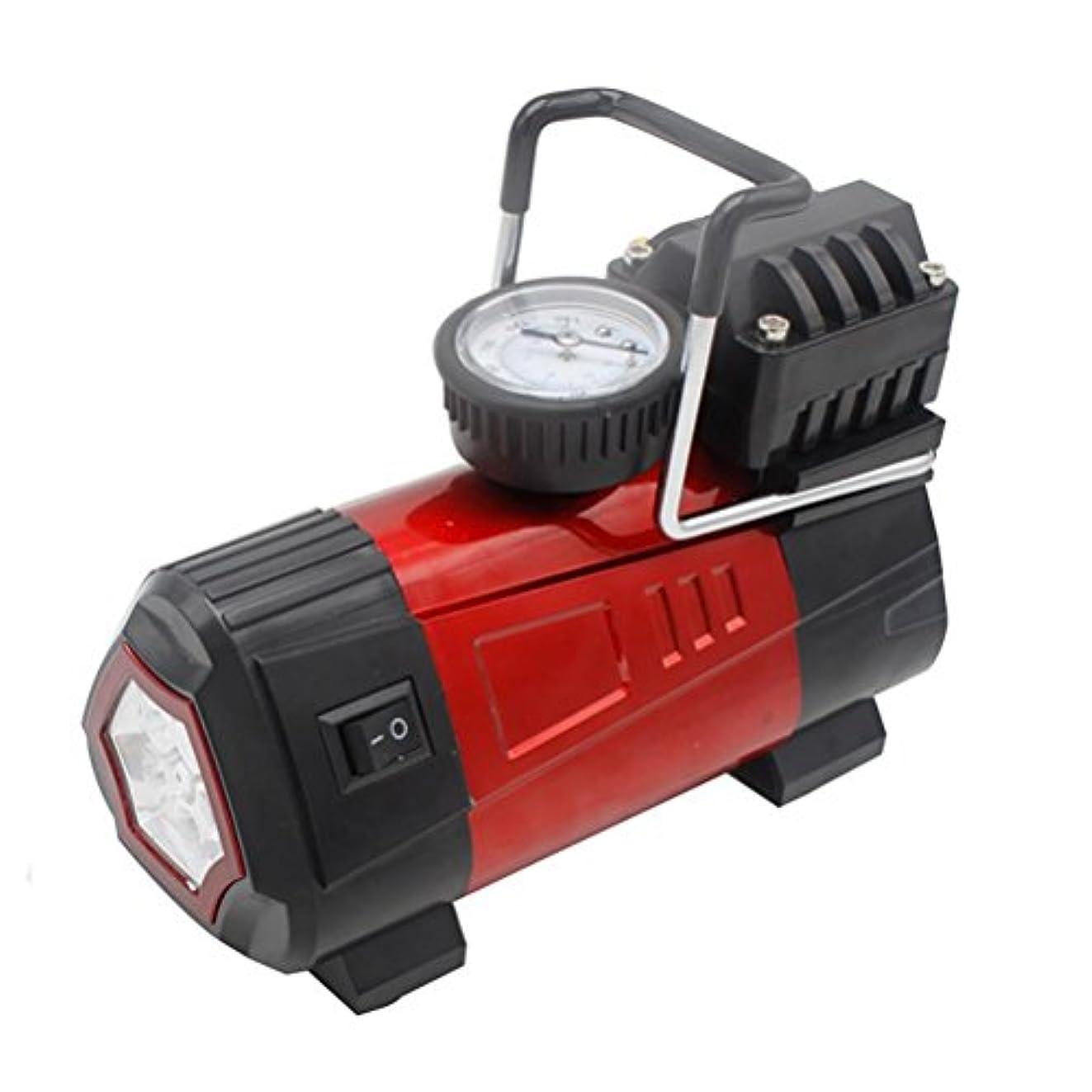 たっぷり乞食不正leajia 12 V DCポータブル空気圧縮機ポンプ