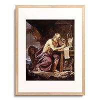 Champaigne, Philippe de,1602-1674 「Der hl.Hieronymus in der Wildnis.」 額装アート作品