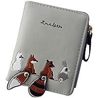 レディース財布、三番目の店 ファッション 女性の財布 ラブリー 漫画の動物 小さなコイン ジッパーの財布のカードパッケージ