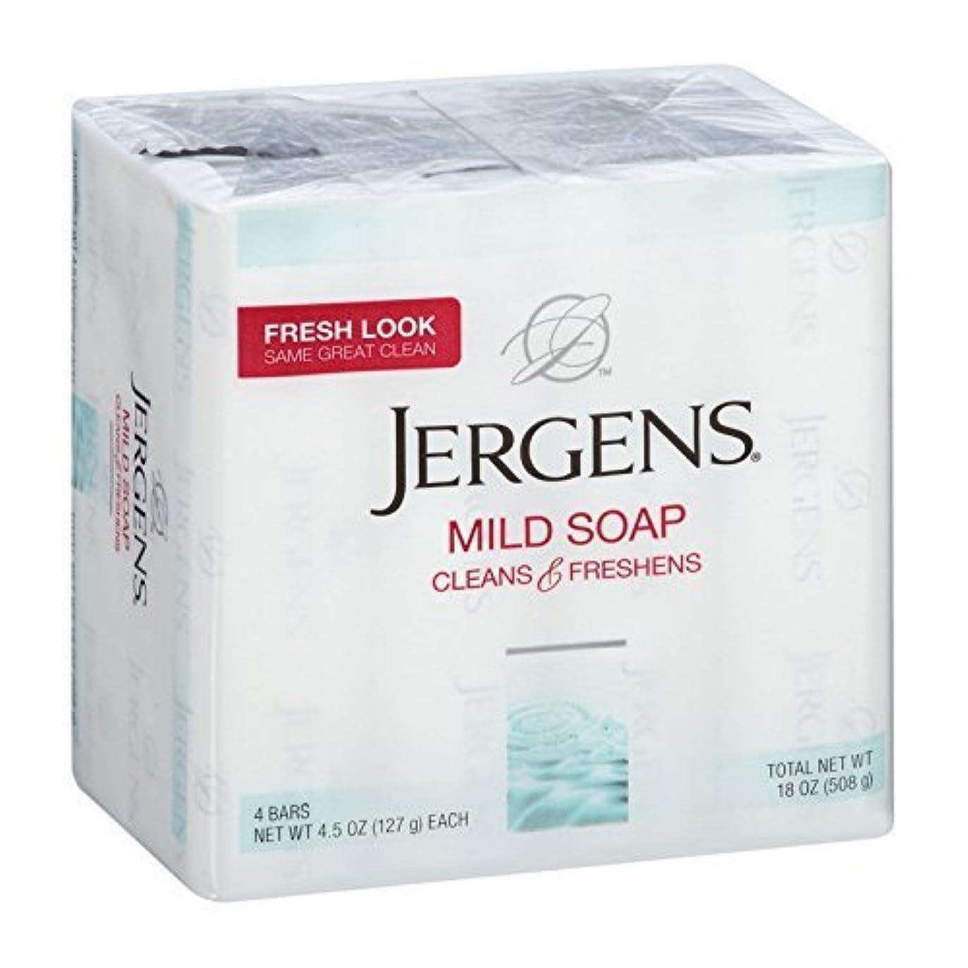 会社近所の拘束するJergens マイルドソープきれいに&フレッシュ4つのバー、4.5オズ(2パック) 2パック
