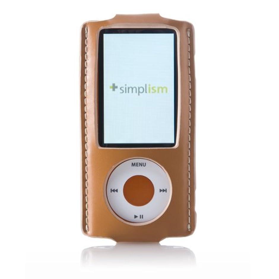 Simplism iPod nano 5th用 シンプルレザーケース 本革 キャメル TR-LCSMNN5-CM