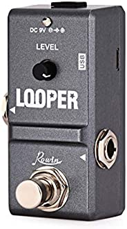 Rowin Tiny Looperエレクトリックギターエフェクトペダル10分ループの無制限オーバーダブ