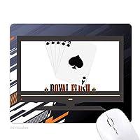 カードのギャンブルチップパターン遊び道具 ノンスリップラバーマウスパッドはコンピュータゲームのオフィス